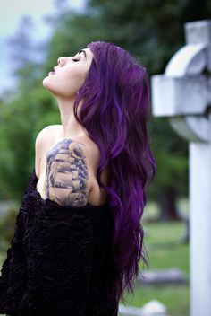 Purple Hair Tattoo - Think Work would be Mad??