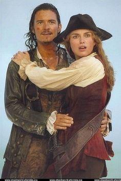 Will And Elizabeth, Elizabeth Turner, Will Turner, Keira Knightley, Elizabeth Swann Costume, Elisabeth Swan, Orlando Bloom Legolas, Pirate Life, Movie Couples