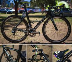 2014 BIKES OF THE WORLDTOUR – PART 1 - This Orica-GreenEDGE Scott Foil is custom painted with light-weight paint for Simon Gerrans (but still needs to use lead weights to get up to the UCI weight limit). Fitted with Shimano Di2, Shimano C50 wheels, PRO handlebar/stem, and Prologo saddle.
