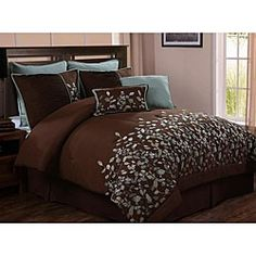 Love brown and blue in my bedroom!!! for-the-home
