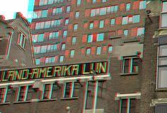 https://flic.kr/p/Kv5UeV | Hotel New-York Rotterdam 3D | anaglyph stereo red/cyan Kop van Zuid        Montevideo