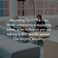Marketing Tip Of The Day:   When composing a marketing email, write as though you are talking to that specific person. Use original wording.   #marketingtip #marketing #seo #lionheartdevs #lionheartdevelopment Tip Of The Day, Email Marketing, Seo, Content, Writing, The Originals, Heart, Tips, Being A Writer