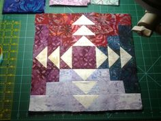Stacked Geese quilt block.  Flying Fat Quarters course with Monique Dillard on Craftsy.com