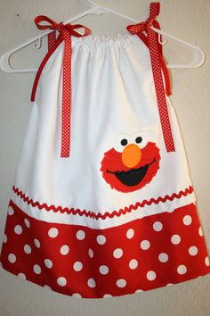 READY TO SHIP  size 4T Elmo applique by ThePolkaDotLollipop, $26.00