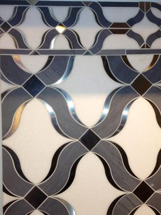 Waterjet Marbles with Stainless Steel  www.imptile.com