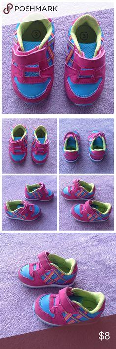 Genuine Baby OshKosh Sneakers 3 Genuine Baby from Oshkosh. Slip on Velcro closure. Size 3. EUC Osh Kosh Shoes Sneakers