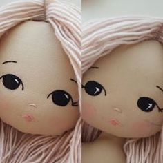 Still playing around with the facial features for the Sparkle Starlet. Need your opinions please! Left or right? The one on the left is… Doll Sewing Patterns, Sewing Dolls, Doll Clothes Patterns, Doll Face Paint, Doll Painting, Doll Crafts, Diy Doll, Guys And Dolls, Doll Eyes