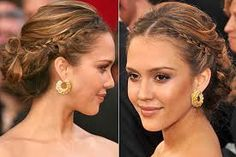 braided updos jessica alba - Google Search