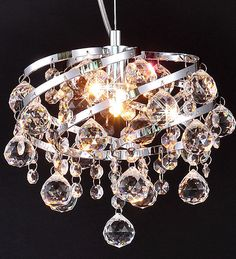 OXANA- Ø24 cm Kristall Hängelampe Deckenleuchte Leuchte Lüster Kronleuchter