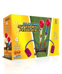 Stomp, rocket and duel! This kit comes with two stomp pads and two rockets and will pit kid against kid in a friendly challenge. With a powerful blast, they can try to get their rocket up to 200 feet and win!
