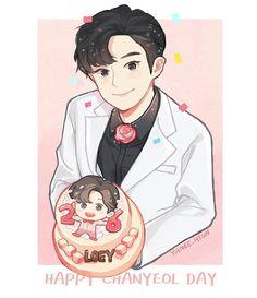 HAPPY CHANYEOL DAY  #exo #chanyeol #birthday #happychanyeolday #exofanart #chanyeolfanart #fanart