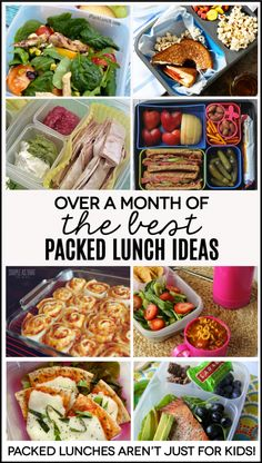 Over a month of packed lunch ideas