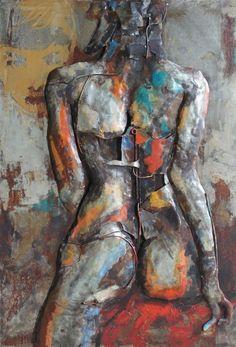 'Nude Study 1' Iron Wall Art   Figurative Metal Wall Art
