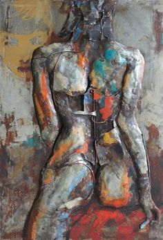 'Nude Study 1' Iron Wall Art | Figurative Metal Wall Art
