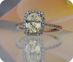 unique champagne wedding ring - Etsy:  EidelPrecious