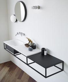 Un versátil sistema modular para configurar consolas de baño - FRACTAL estudio + arquitectura