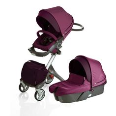 Stokke Xplory stroller's innovative design brings your child closer to parents and away from dust. The innovative height optimizes eye contact and bonding between parent and baby, and toddlers enjoy a more interesting panoramic view. Single Stroller, Future Maman, Future Baby, Purple Baby, Baby Must Haves, Prams, Baby Gear, Baby Love, Baby Baby