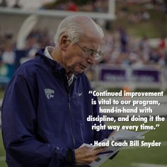 Head Coach Bill Snyder on the importance of execution.