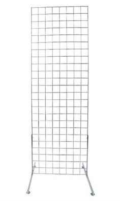"Chrome 2' x 6' Standing Grid Screen SKU # 40126 Price:$32.95. • Chrome Finish • Standing Grid Screen includes: 1-2 x 6 grid panel and 1 set of (2) grid legs. • Grid legs are 24""L • Fixtures Sold Separately"