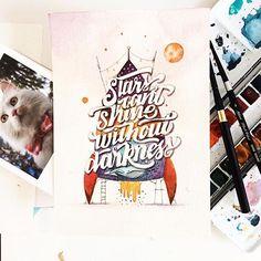 June Digan | Water Color | Hand Lettering | Instagram