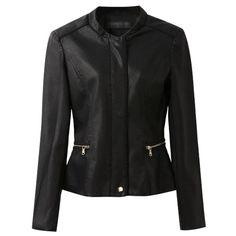 Chicnova Fashion Zipper Slim Fit Fur Coat ($61) found on Polyvore
