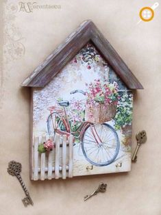 Lilian Martinez's media content and analytics Hobbies And Crafts, Diy And Crafts, Arts And Crafts, Small Wood Projects, Craft Projects, Wood Crafts, Paper Crafts, Decoupage Wood, Diy Holz