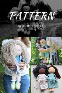 PATTERN Crochet Dolls. PDF Amigurumi Girl. Amigurumi Doll Pattern. Tutorial crochet girl. Size of the finished toy about 40 cm (15.75') Level: medium. This pattern includes: - pdf file with detailed instructions in English; - 105 pages long and has a lot of pictures (about 100) to help you by working; #etsy #crochetamigurumi #crochetamigurumipattern #CrochetDollpattern #AmigurumiGirlpattern #crochetbabypattern #amigurumidollpdf #amigurumigirldoll #amigurumidollpattern