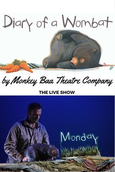 Diary of a Wombat by Monkey Baa Theatre Company, Sydney Sydney Blog, Lesson Planning, Wombat, Childrens Books, Literacy, Monkey, Theatre, Posts, Adventure