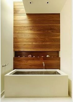 The balance of the softer natural wood with harder more clinical surfaces