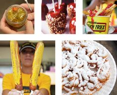Even if you won't make it out to a state fair this season, you can still get powdered sugar on your face while eating funnel cake in your own backyard with this menu comprised of classic state fair treats.