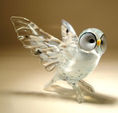 Glass White Polar Owl