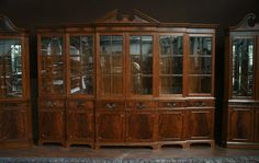 This Large Mahogany China Cabinet Has Our New 2009 Cherry Finish Which Less Red