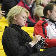 Anette Norberg, Swedish curler and . current Olympic women's curling champion - and knitter!