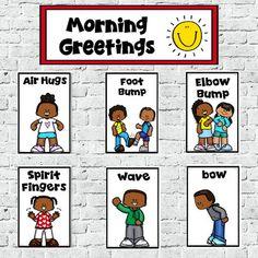 Social Distancing or Minimal Contact Morning Greetings