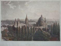 View of Oxford, taken from New College Tower, 1814