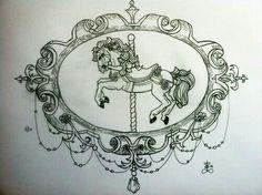 Vintage carousel tattoo