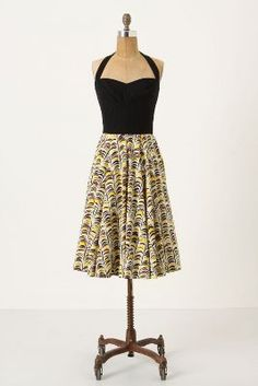Anthropologie Memory of Feathers Dress by Girls From Savoy
