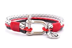 Mens Bracelet SALTI Nautical Rope Bracelet 3rd Wave SHACKLE Sailor Surfer Boarder FREE Worldwide shipping