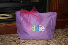 Monogrammed Kids Children's Tote Bag Birthday Gift by Carabellas, $15.00