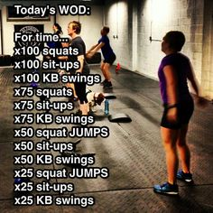 WOD ~ Re-Pinned by Crossed Irons Fitness http://www.naturalenhancementblog.com