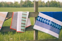 Miami and Grassland Quilts - Modern Quilts - Fort Cotton Quilt Co.