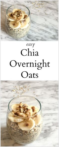 Easy Chia Overnight Oats - The Write Balance