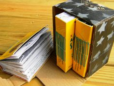 Upcycled American Spirit Cigarette Book Set Of 3. $25,00, via Etsy.