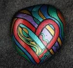 LOVE ISLAND Hand-Painted Stone