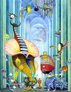 Underwater landscape - (Jacek Yerka)