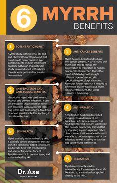 Learn all about the benefits of Myrrh Oil | via draxe.com