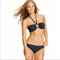 8c9cc4991d Just in 👸 MK NWT bikini set NWT Navy Michael Kors bikini set size medium Michael  Kors Swim Bikinis