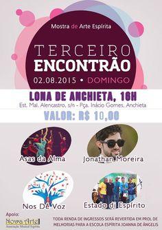 Mostra de Arte Espírta Convida para o o Terceiro Encontrão - Anchieta - RJ - http://www.agendaespiritabrasil.com.br/2015/07/27/mostra-de-arte-espirta-convida-para-o-o-terceiro-encontrao-anchieta-rj/