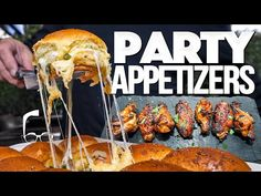 THE ULTIMATE PARTY APPETIZERS FOR NYE | SAM THE COOKING GUY - YouTube Bread Appetizers, Appetizers For Party, Pizza Recipes, Snack Recipes, Beef Pasta, New Cooking, Cooking Ideas, Honey Chicken, Food Club