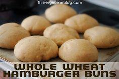 Whole Wheat Hamburger Buns - A bread machine recipe